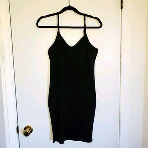 Tattoo black slip dress cotton and spandex size L